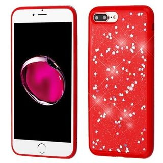 Insten Red Hearts TPU Rubber Candy Skin Case Cover For Apple iPhone 7 Plus