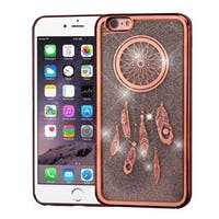 Insten Rose Gold/Silver Quicksand Hard Snap-on Chrome Glitter Case Cover For Apple iPhone 6 Plus/6s Plus