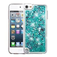 Insten Green Quicksand Hard Snap-on Glitter Case Cover For Apple iPod Touch 5th Gen/6th Gen