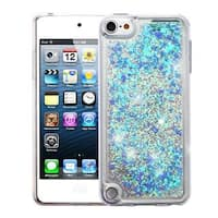 Insten Blue Quicksand Hard Snap-on Glitter Case Cover For Apple iPod Touch 5th Gen/6th Gen