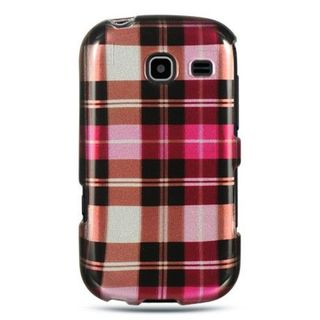Insten Pink Hard Snap-on Rubberized Matte Case Cover For Samsung Freeform III R380