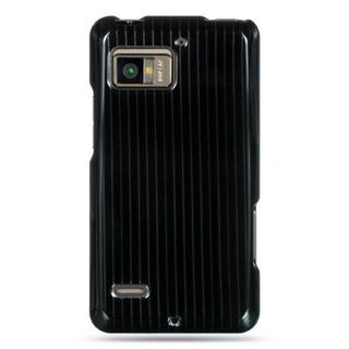 Insten Black Hard Snap-on Rubberized Matte Case Cover For Motorola Droid Bionic XT875 Targa