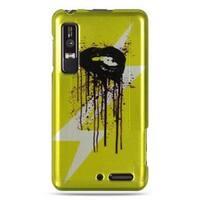 Insten Yellow/Black Lip Hard Snap-on Rubberized Matte Case Cover For Motorola Droid 3