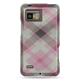 Insten Pink Hard Snap-on Rubberized Matte Case Cover For Motorola Droid Bionic XT875 Targa
