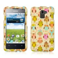 Insten White Owl Hard Snap-on Rubberized Matte Case Cover For Huawei Premia 4G M931