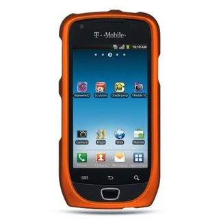 Insten Orange Hard Snap-on Rubberized Matte Case Cover For Samsung Exhibit 4G T759