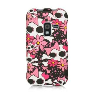 Insten Pink/White Skull Hard Snap-on Rubberized Matte Case Cover For Samsung Galaxy Attain 4G SCH-R920