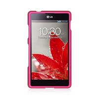 Insten Hot Pink Hard Snap-on Rubberized Matte Case Cover For LG G2x