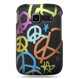 Insten Black Peace Hard Snap-on Rubberized Matte Case Cover For Kyocera Torino Loft S2300