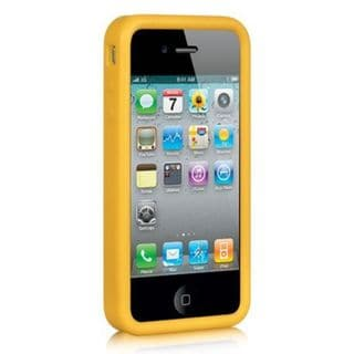Insten Yellow Silicone Skin Gel Rubber Case Cover For Apple iPhone 4/4S