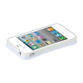 Insten White Hard Snap-on Dual Layer Hybrid Case Cover For Apple iPhone 4/4S
