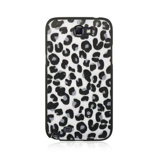 Insten Black/White Leopard Hard Snap-on Rubberized Matte Case Cover For Samsung Galaxy Note II