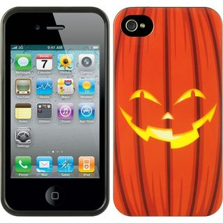 Insten Orange Halloween TPU Rubber Candy Skin Case Cover For Apple iPhone 4/4S