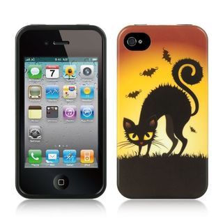 Insten Yellow Halloween TPU Rubber Candy Skin Case Cover For Apple iPhone 4/4S