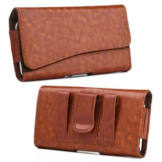 Insten Brown Leather Case Cover For HTC One M7