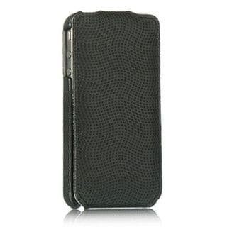Insten Black Leather Case Cover For Apple iPhone 4/4S