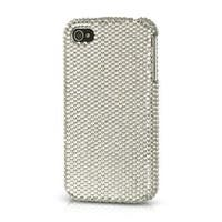 Insten Silver Hard Snap-on Diamond Bling Case Cover For Apple iPhone 4/4S