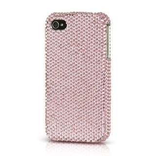Insten Pink Hard Snap-on Diamond Bling Case Cover For Apple iPhone 4/4S