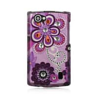 Insten Purple Violet Hard Snap-on Rubberized Matte Case Cover For LG Optimus M+ MS695