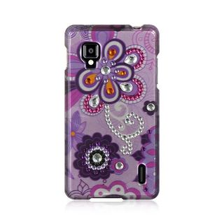 Insten Purple Violet Hard Snap-on Rubberized Matte Case Cover For LG Optimus G LS970 Sprint