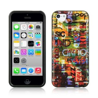 Insten Colorful Urban Graffiti TPU Rubber Candy Skin Case Cover For Apple iPhone 5C