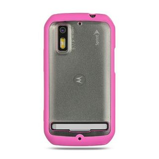 Insten Clear/Pink TPU Rubber Candy Skin Case Cover For Motorola Photon 4G MB855