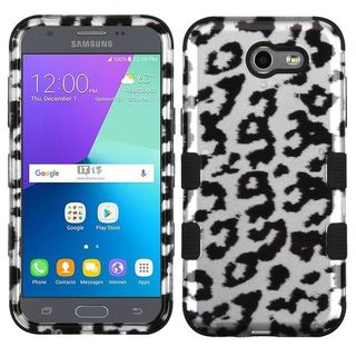 Insten Black Leopard Tuff Hard PC/ Silicone Dual Layer Hybrid Rubberized Matte Case Cover For Samsung Galaxy J3 (2017)