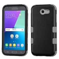 Insten Black Tuff Hard PC/ Silicone Dual Layer Hybrid Rubberized Matte Case Cover For Samsung Galaxy J3 (2017)