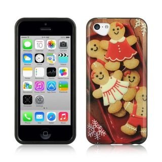 Insten Brown Gingerbread TPU Rubber Candy Skin Case Cover For Apple iPhone 5C