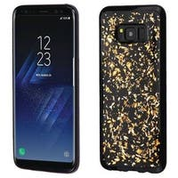 Insten Gold/Black Flakes TPU Rubber Candy Skin Case Cover For Samsung Galaxy S8 Plus S8+