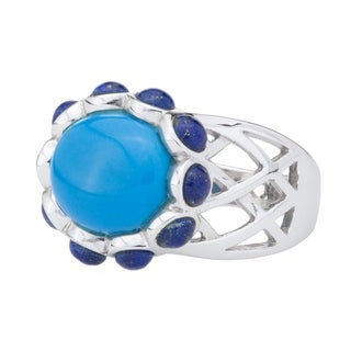 Pangea Mines Ceruleite and Lapis Ring - Blue