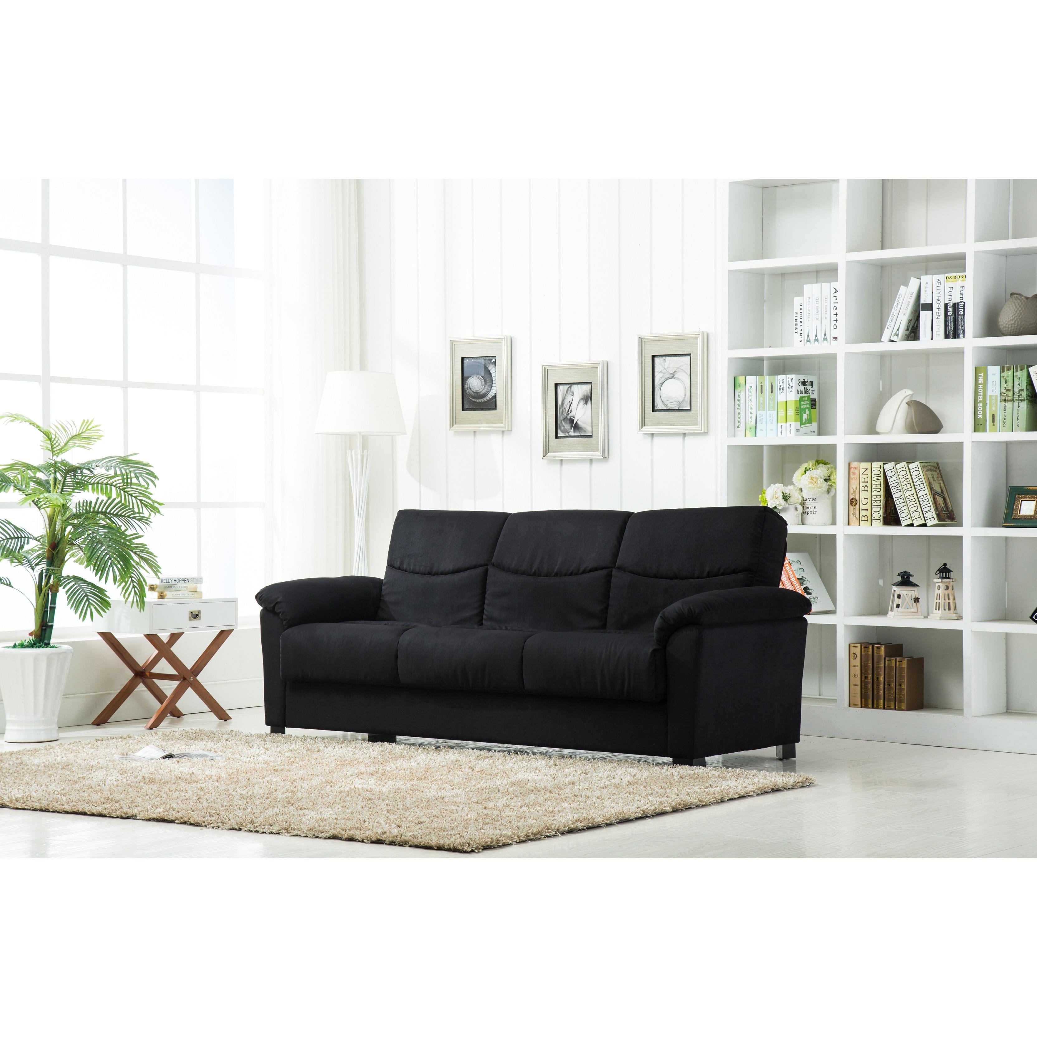 Urban Fabric Storage Sofa Bed (Tan), Size Full (Microfiber)