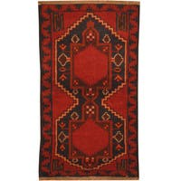 Herat Oriental Afghan Hand-knotted Tribal Balouchi Wool Rug (2'7 x 4'7) - 2'7 x 4'7