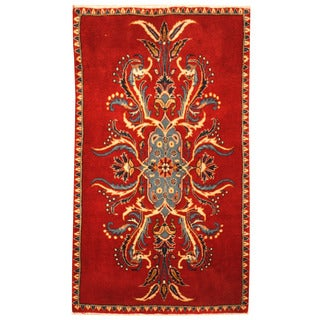 Herat Oriental Persian Hand-knotted Kashan Wool Area Rug (2' x 3'5)
