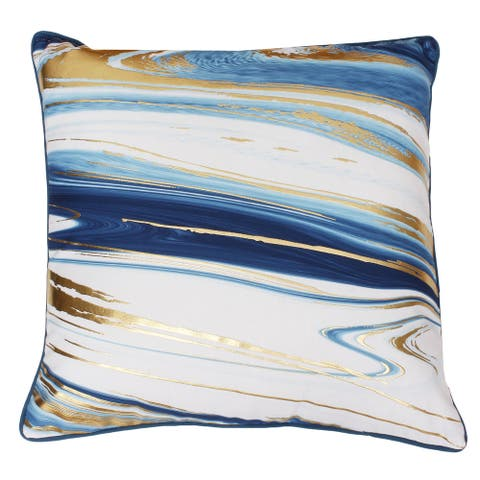 Kia Marble Raised FoilThrow Pillow
