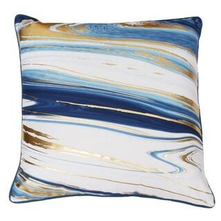 Kia Marble Raised Foil Down Throw Pillow