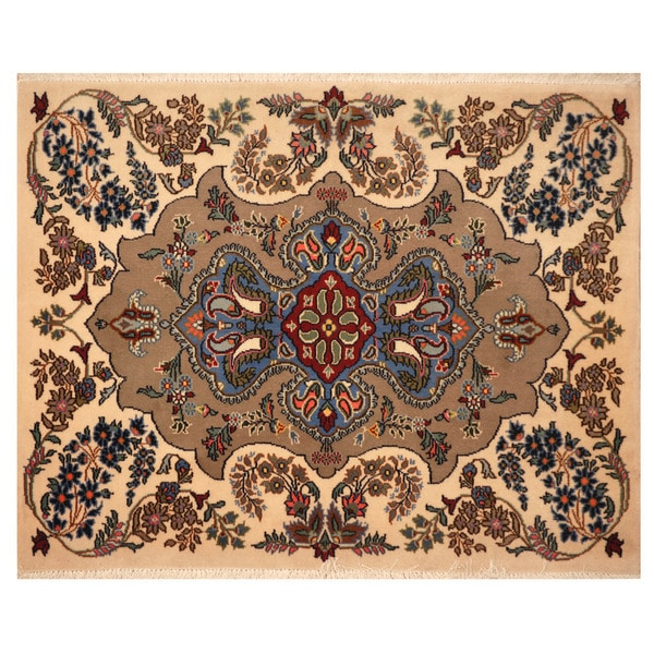 Herat Oriental Persian Hand-knotted Kashan Wool Area Rug (2'7 x 3'3)
