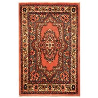 Herat Oriental Persian Hand-knotted Sarouk Wool Area Rug (2'1 x 3'3)