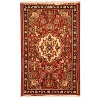 Herat Oriental Persian Hand-knotted Hamadan Wool Area Rug (1'9 x 2'8)