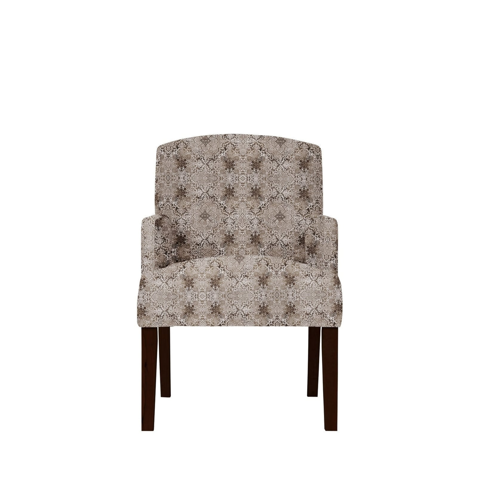 Samantha Arm Chair with Moore Fabric 636, Brown/Grey/Tan/...