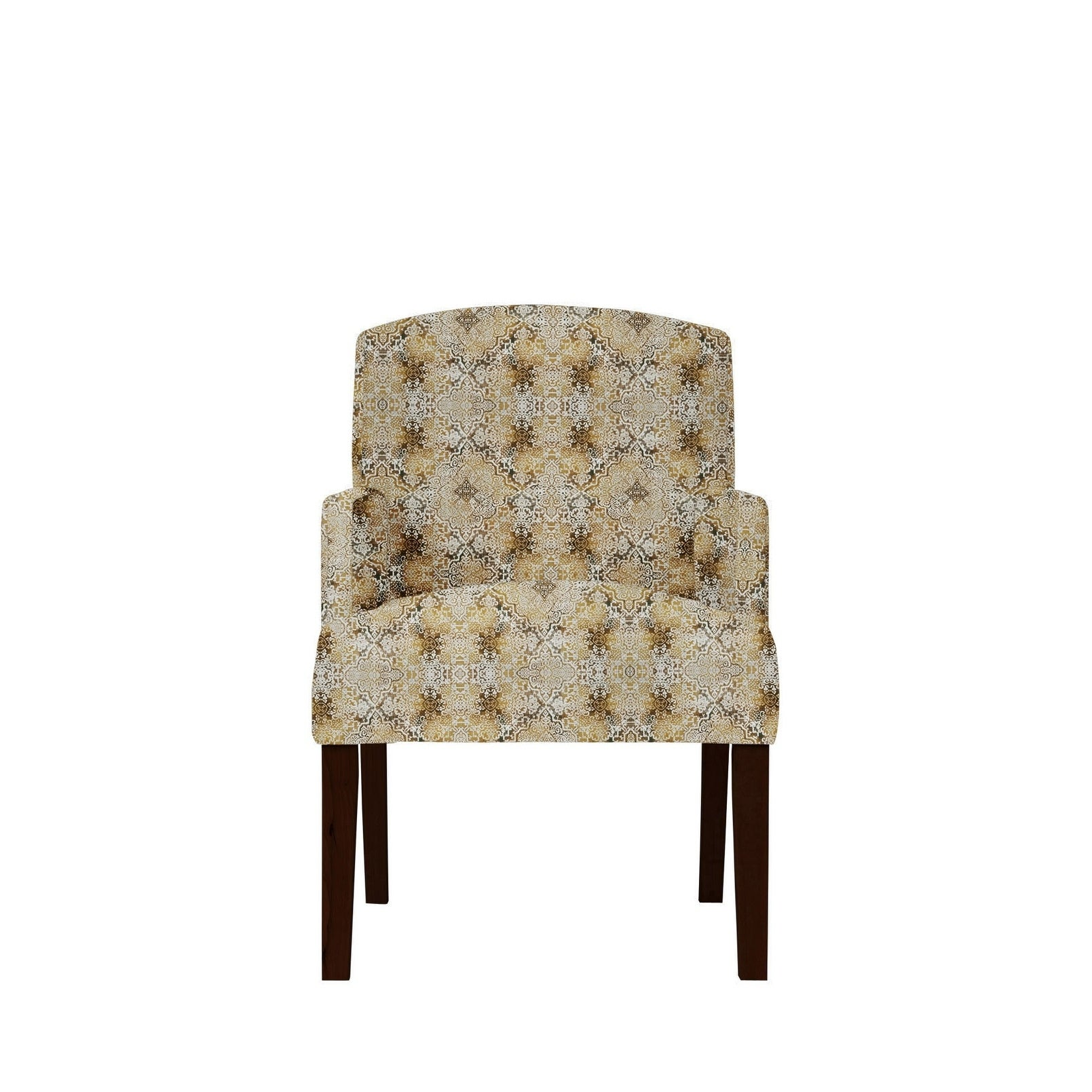 Samantha Arm Chair with Moore Fabric 637, Brown/Red/Patte...