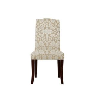 Martina 646 Plush Fabric Side Chairs (Set of 2)