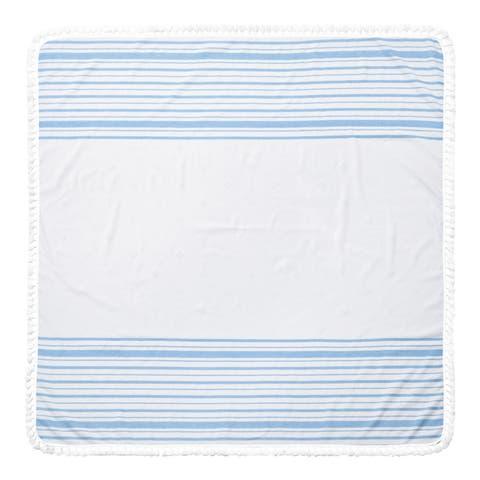 Arlo Turkish Cotton 60-inch Square Beach Towel - 60x60 Inches