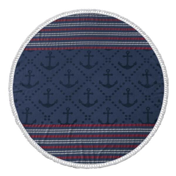 Anchor Turkish Cotton 60-inch Round Beach Towel