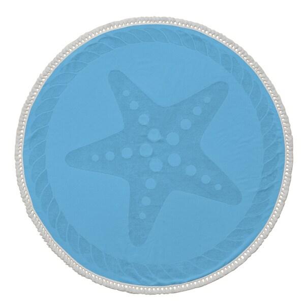 Starfish Turkish Cotton 60-inch Round Beach Towel