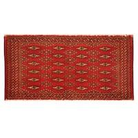 Handmade Herat Oriental Persian Turkoman Wool Area Rug (Iran) - 1'8 x 3'3