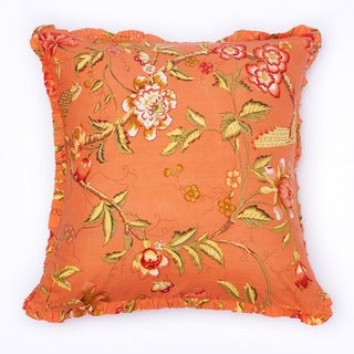 Orange Floral Euro Shams (Set of 2)