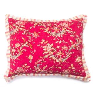 Renee Red Floral Sham