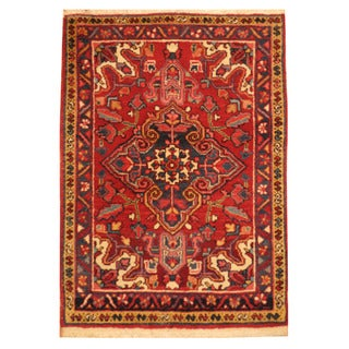 Herat Oriental Persian Hand-knotted Heriz Wool Area Rug (2'3 x 3'2)
