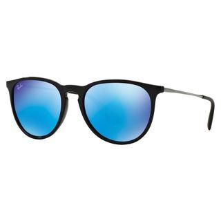 Ray-Ban Erika Color Mix Blur RB4171 601/5554 Womens Black Gunmetal Frame Blue Mirror Lens Sunglasses (As Is Item)